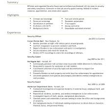 Security Supervisor Resume Simple Resume Format