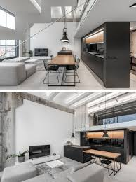 104 Interior Design Loft A Lithuanian With A Monochrome And Wood Material Palette