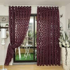 deco rideaux chambre moderne rideau pourpre 3d rideaux décoration de la maison