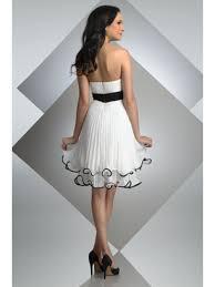 line short black white bridesmaid dresses evening cocktail