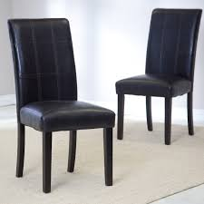 100 Black Leather Side Dining Chairs Faux Parsons Zef Jam