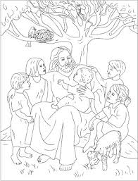 Printable Coloring Pages Of Jesus And Children