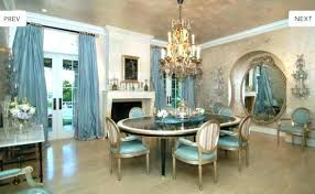 Cost To Add French Doors Dining Room The Ice Blue Formal Has A Fireplace Framed By Curtains For
