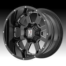 100 Xd Truck Wheels KMC XD Series XD825 Buck 25 Gloss Black Milled Custom Rims
