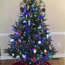 Black Christmas Tree Friday Lights Fibre Optic Amazon Orange