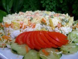 cuisine salade de riz salade de riz au thon et légumes facile choumicha cuisine