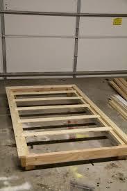 diy twin platform bed frame drk architects