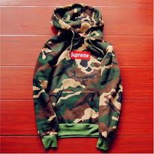 Camouflage Supreme Mens Hoodie Embroidered Cotton Sweater Thin Section Hoodies In Clothing Shoes Accessories