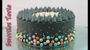 smarties torte backen schwarze torte ohne fondant geburtstagstorte selber machen