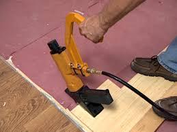 Wood Floor Nailer Gun by How To Install Bamboo Plank Flooring How Tos Diy