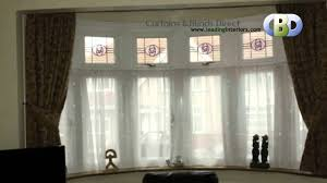 Kitchen Curtain Ideas For Bay Window by Bay Window Curtains At Www Leadinginteriors Com Youtube