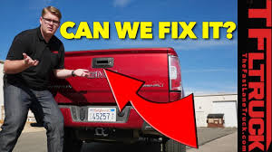 Can It Be Fixed? Pickup Truck Tailgate Backup Camera (Video) - The ... 1957 Ford Pick Up Truck Tailgate Stock Photo 124162584 Alamy Gmc Sierra Diverges From Silverado With Unique Box Gas 2007 Tailgate Party Truck How The 2019 Sierras Multipro Works Youtube Pladelphia Eagles Any Vinyl And 50 Similar Items Yakima Gatekeeper Bike Cover Outdoorplay Storm Project Episode 16 Custom Tail Lights Ledglow 60 Led Light Bar White Reverse For 1x22w 49 Fxible Car Red Best Pad Mtbrcom Beer Pong Table Dudeiwantthatcom Incident Command Post First Responder Canopy