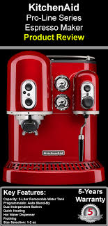 Kitchen Aid Pro Line Series Espresso Maker Product Review