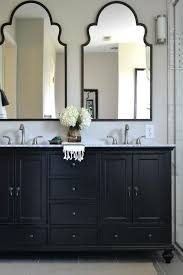 Double Vanity Bathroom Ideas by Mirror On Top Of Vanity Transitional Bathroom Pertaining To