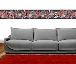 wohnzimmer bordüren wanddekoration im japan design miyo mori