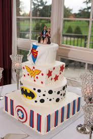 Custom Super Hero Themed Wedding Cake Topper Woman Captain America Batman By