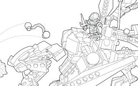 Ninjago Lego Coloring Pages Colouring