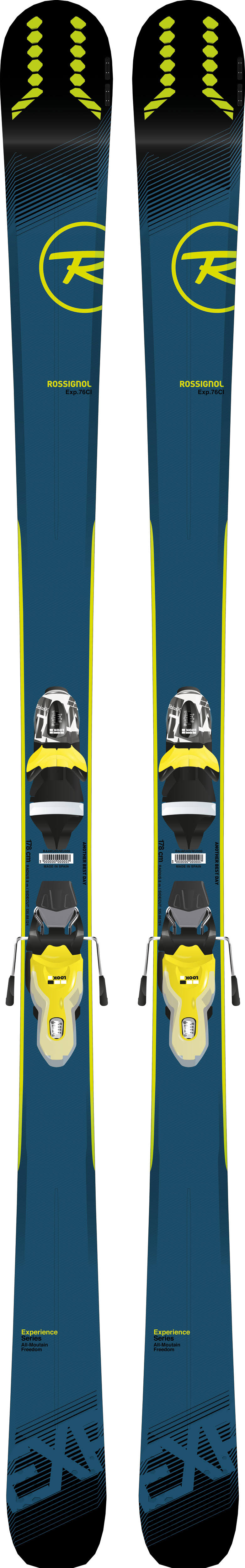 Rossignol Ski Company Men's Experience 76 CI Ski with Look Xpress 10 Binding