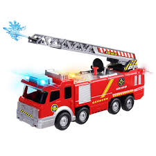 100 Black Fire Truck Truck Toys For Kids Boys 2 3 4 5 6 7 Year Old Boy Lights Sounds