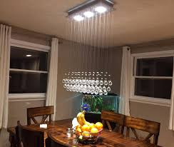Crystal Raindrop Chandelier Lighting Flush Mount LED Ceiling Light Fixture Pendant Lamp For Dining Room Bathroom