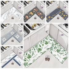 großhandel 45 75 cm home teppiche pvc boden teppiche für schlafzimmer wohnzimmer matten küche öldicht pad bad eingang wasserdichte rutschfeste matte