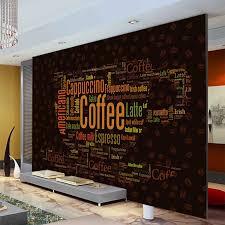 Coffee Letters Wallpaper Custom 3D Wall Mural Fashion Photo Shop Bedroom Room Decor Restaurant