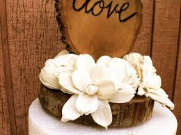 Wedding Cake Topper Rustic Wooden Toppers