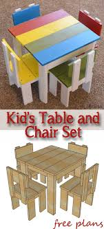 Simple Kids Table And Chair Set