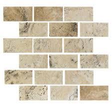 florida tile pietra travertine mosaic 2 x 4 picasso