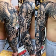 Angel Tattoo By Polish Artist Marcin Sonski