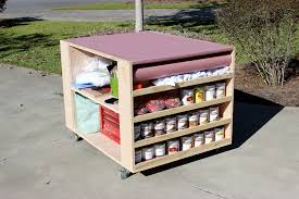 Diy Portable Workbench With Storage Free Plans For Awesome Home Work Bench Remodel