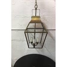 vintage underwriters laboratories brass glass ceiling lantern