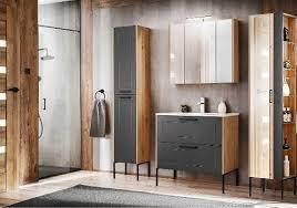 badmöbel industrial style holz und metall