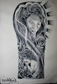 Drawn Tattoo Half Sleeve 15