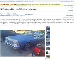 100 Craigslist Memphis Trucks Project Car Hell Kings Of Rap Edition Chuck Ds Olds 98 Or Sir Mix