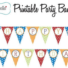 Printable Birthday Banners Personalized Print Birthday Banner
