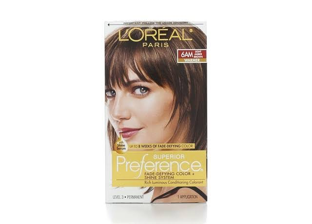 L'Oréal Paris Superior Preference Haircolor - 6AM Light Amber Brown Warmer