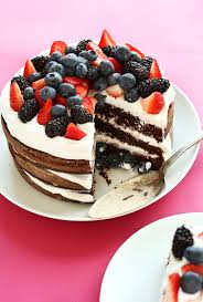 The perfect summer AMAZING 1 Bowl Chocolate Cake with Coconut Whipped Cream with Berries The perfect summer