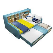 120 150cm etagen bett massivholz faltbare schlafzimmer schlafsaal nickerchen doppel sofa multifunktionale wohnzimmer bett mit bücherregal