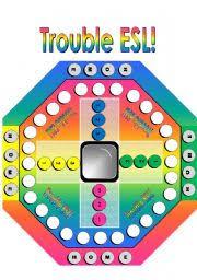 Trouble ESL Game Board