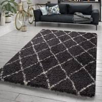 wohnzimmer teppich hochflor shaggy skandi design real de