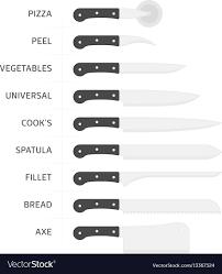 Kitchen Knive Set Kitchen Knife Set Royalty Free Vector Image Vectorstock