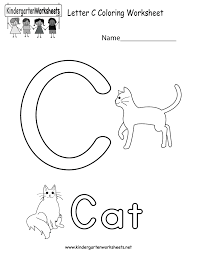 Kindergarten Letter C Coloring Worksheet Printable