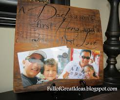 full of great ideas a dad is diy wood quote magnetic photo holder