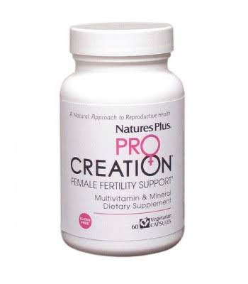 Nature's Plus Pro Creation Female Fertility Support Multivitamin and Mineral Dietary Supplement - 60 capsules