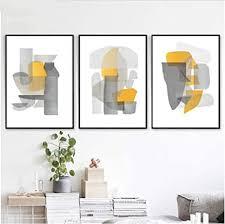 gstbgbr dekoration moderne abstrakte kunst 3er set poster