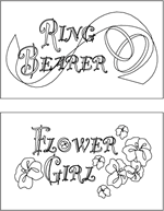 Name Card Coloring Page