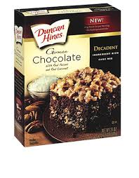Decadent German Chocolate Cake Mix