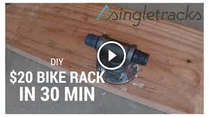 Ceiling Bike Rack Diy by Diy How To Build A Fork Mount Bike Rack For 20 In 30 Minutes