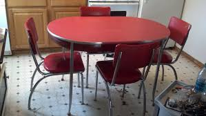 100 Red Formica Table And Chairs Vintage 50s Kitchen And 4 EBay Working